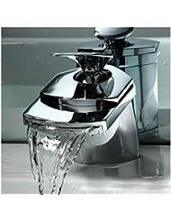 pengweiLarge bouche est canard de robinet cascade chute d'eau a conduit robinet robinets de cuisine légère