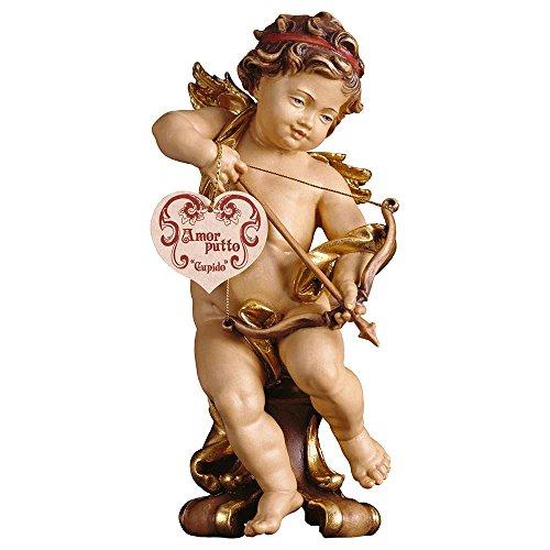 Progettazione in vero legno Putte Amor su console stand Angelo, 15cm, colori