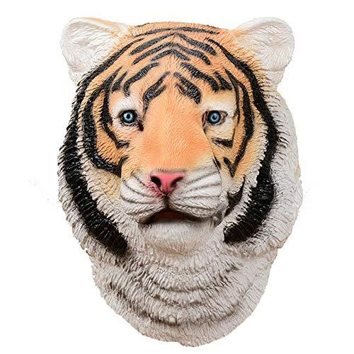Lixinfushi Tiger Kopf Maske, Latex Halloween Neuheit Kostüm Gummi Tierkopf Masken
