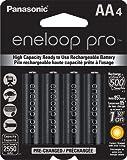 #8: Panasonic Eneloop Pro upto 2550mAh 4xAA Rechargeable Ni-MH Battery BK-3HCCE/4BN