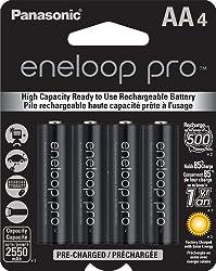 Panasonic Eneloop Pro upto 2550mAh 4xAA Rechargeable Ni-MH Battery BK-3HCCE/4BN