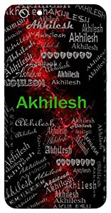 Akhilesh (Lord Of The Universe) Name & Sign Printed All over customize & Personalized!! Protective back cover for your Smart Phone : Samsung Galaxy S4mini / i9190