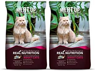 Meat Up Adult Cat Food, 7 kg (Buy 1 Get 1 Free)