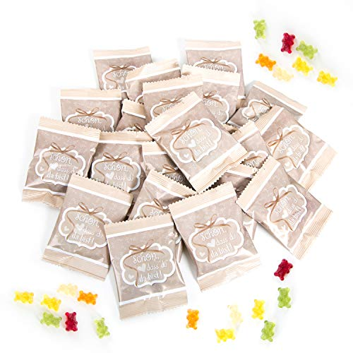 Gummibärchen Päckchen | Gastgeschenk | 25 Stk