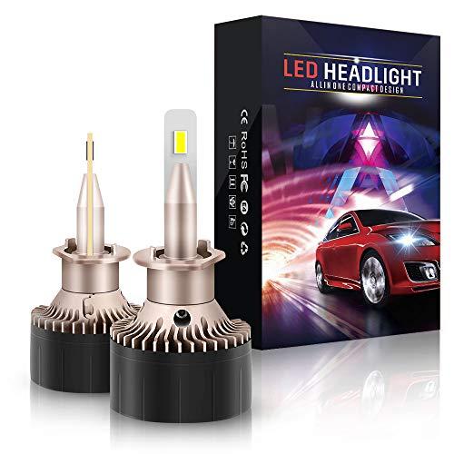 Lampadine H1 LED 10800LM, Auto Fari per Abbaglianti o Anabbaglianti, Kit Lampada Sostituzione per Alogena e Xenon Luci 6000K Bianco, 12V, 2 Anni Garanz