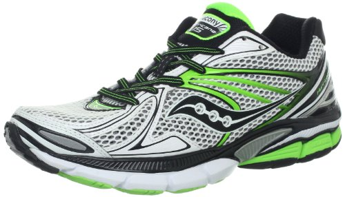 Saucony Chaussures Running Homme Saucony PowerGrid Hurricane 15 gris/vert gris