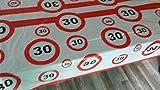 30 igster Geburtstag-Feier-abwaschbare Party-Feier-Tisch-Decke-Deko-Idee vom Sachsen Versand
