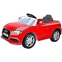 Audi, A3 12 V niños conducción en coche – luces delanteras y traseras – Mando a distancia para padres incluido (Producto con enchufe de UK)