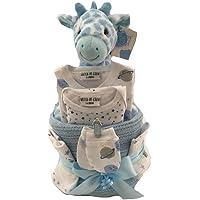 Baby Nappy Cake Blue Giraffe