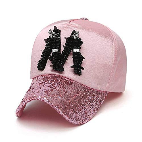 CXKNP Baseball Caps Cotton Fashion Baseball Caps Für Frauen Knochen Pailletten Strass Glas Hip Hop Cap Hüte Snapback