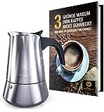 Coffeeano Espressokocher Premium Mokka aus Edelstahl