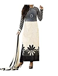 Globalia Creation Women's Cotton Suit Piece Salwar Suit Set (Gol-334Lol_Black_Free Size)
