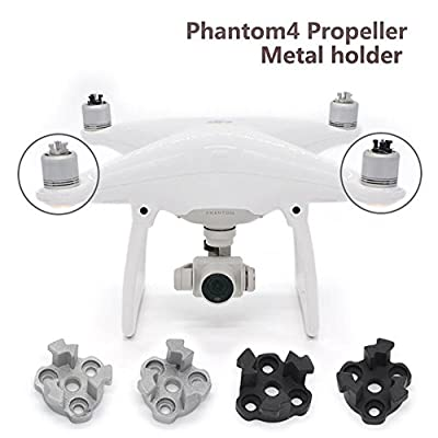 Hensych CNC Metal Propeller Mounting Base Bracket Mount Holder, Replacement Parts 4 Pieces for DJI Phantom 4 9450S Propeller Installation Kits by Hsyc Tech