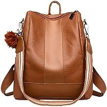 bolsas de viaje Mujer Casual, MINXINWY mochila de cuero Suave Gran Capacidad Bolsos Mochilas de