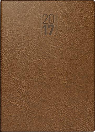 Preisvergleich Produktbild Brunnen Modell 731 (1073132) Taschenkalender Senegal (2 Seiten = 1 Woche, 100 x 140 mm, Kunstleder-Einband, Kalendarium 2017) braun