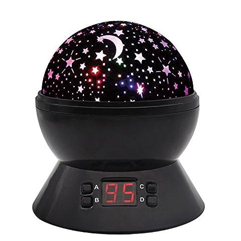 Sternhimmel Projektor Nachtlichter Mit Timer Shut Off & 360 Grad Rotation Bunte Änderung LED Spielzeug Tischlampen Für Kind Schlafzimmer Weihnachten Geschenk Starry Stern Mond Projektions Nacht Lampe