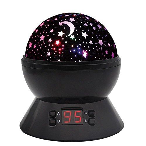 Sternhimmel Projektor Nachtlichter Mit Timer Shut Off & 360 Grad Rotation Bunte Änderung LED Spielzeug Tischlampen Für Kind Schlafzimmer Weihnachten Geschenk Starry Stern Mond Projektions Nacht Lampe (Ändern Sie Wand Licht Schalter)