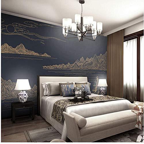 Zjxxm Benutzerdefinierte Fototapeten Modernen Einfachen Stil Wandbilder Für Mann Studie Commerc Business Hotel Schlafzimmer Wohnzimmer Schwarz Wandbild-450cmx341cm