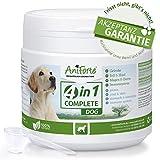 AniForte 4in1 Complete Dog 250g - Natürliche Rundumversorgung für Hunde, Pulver aus Grünlippmuschel, Hagebutten, Topinambur, Bierhefe, Reich an Antioxidantien, Vitaminen, Zink und Eisen