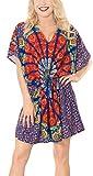 LA LEELA Frauen Bademode Liege Kleid Designer Sundress und Bikini lila verschleiern