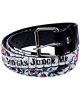 Old Glory - Mens Only God Can Judge Me Studded Leather Belt