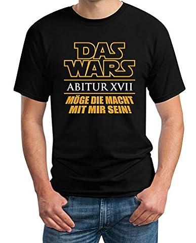 Abi Abitur 2017 DAS WARS Möge Die Macht Mit MIR Sein T-Shirt Small Schwarz