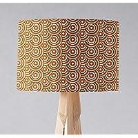 Pantalla de lámpara marrón con diseño de círculos retro de los años 70, sobremesa o plafón.
