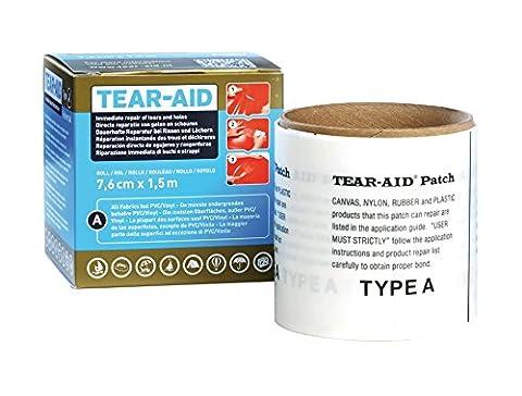 Tear-Aid 5714002 Film de Réparation Mixte Adulte, Transparent, 7,6 cm x 1,5 m