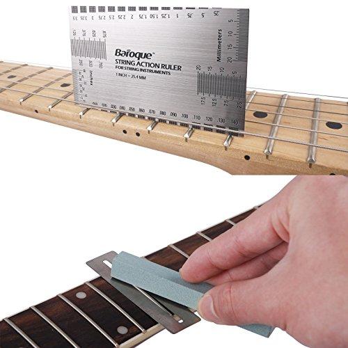 Mr. Power regla medidora de cuerdas con alambre de traste, juego con herramientas de luthier para bajo eléctrico y guitarra acústica