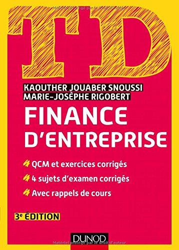 TD de finance d'entreprise - 3e éd.