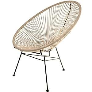 la chaise longue fauteuil acapulco taupe la chaise longue casa e cucina. Black Bedroom Furniture Sets. Home Design Ideas