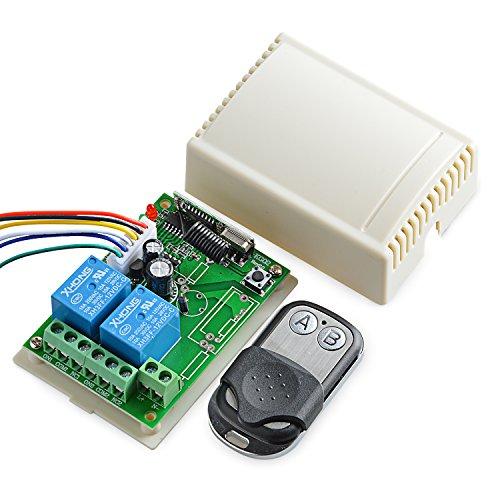 Neuftech DC12V 2 Kanäle drahtlos 433MHZ Relaisempfängermodul, Smart RF Remote Switch Sender mit Empfänger.