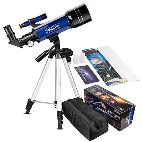 Emarth 70 mm Télescope Astronomique pour Enfants Et débutants,...