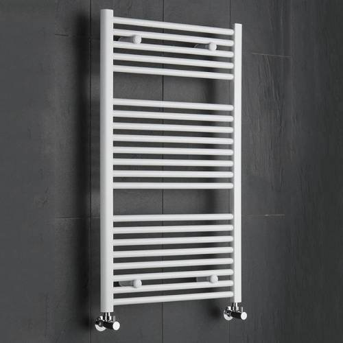 Hudson Reed Scaldasalviette Radiatore Termoarredo Bagno in Acciaio Bianco | 1000mm x 600mm | 445 Watt | Termosifone Compatto | Riscaldamento ad Acqua | 21 Elementi | Garanzia 10 Anni