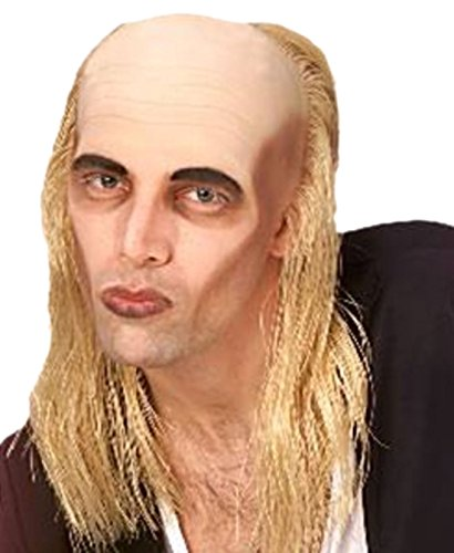 Karnevalsbud - Herren Perücke Glatze Riff Raff Horror, Blond