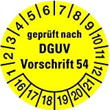 LEMAX® Prüfplakette gepr. nach DGUV Vorschrift 54 ab 2021 gelb/schw. Ø30mm, 100 Stk.