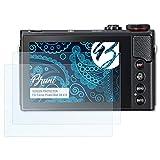 Bruni Schutzfolie für Canon PowerShot G9 X II Folie - 2 x glasklare Displayschutzfolie