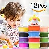 Springknete, Korostro Kinderknete Hüpfknete Flummimasse Kinder Mitgebsel für Kindergeburtstag Eigenschaften Kinderknete Formen Kinderhand Gemachtes Lernen Bestes Geschenk für Kinder - 12 Farben