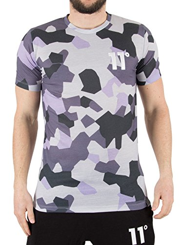 11-degrees-herren-lilac-geo-logo-t-shirt-grau-small