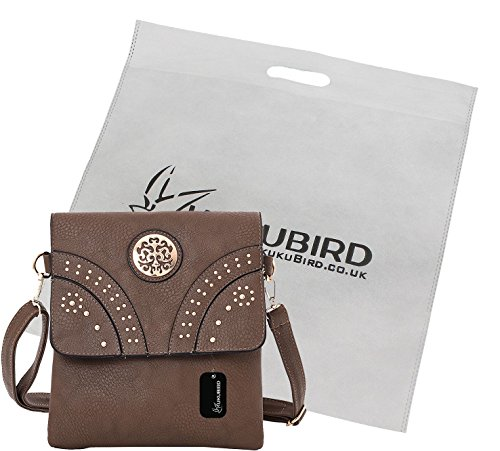 Kukubird Amani borsa a tracolla borsa Casual tutti i giorni con sacchetto raccoglipolvere Kukubird Khaki