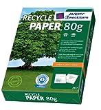 Avery Zweckform Recyclingpapier 80g für Inkjet + Laser + Kopierer, DIN A4, 500 Blatt, weiß, aus 100% Recyclingpapier, ISO100 Weiße