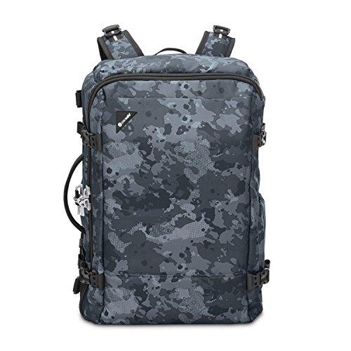 Pacsafe Vibe 40 - Anti-Diebstahl Rucksack, Diebstahlschutz Reiserucksack, Handgepäck 40 Liter, Grau Camo/Grey Camo