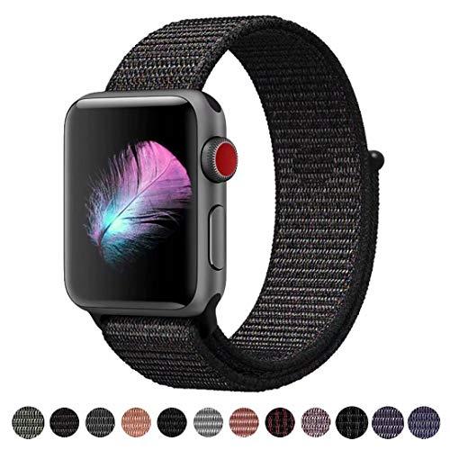 HILIMNY Für Apple Watch Armband 42MM, Ersatz für iwatch Armband Series 3, Series 2, Series 1 (Schwarz, 42MM)