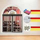 EQEQ Silk Road Sommer Vircro Magnet Moskito Vorhang Anti Moskito Fenster Geröll Verschlüsselung Schlafzimmer Vorhang Home Klettverschluss Fenster - Beige 90 x 150 cm (35 x 59 Zoll)