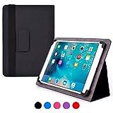 Funda tipo folio Infinite Elite de Cooper Cases(TM) para tablets de Samsung Galaxy Tab 10.1 3G (P7500/P7501), LTE I905 en Negro (Compatibilidad universal, soporte integrado para visionado, cierre con elástico)