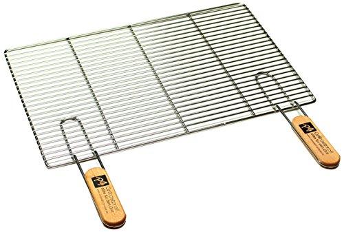 Griff Grill (PG Metalltechnik Edelstahl Rost Grillrost - rechteckig und rund - Grill Rost Grössenauswahl (54 x 34 cm mit Griffen))
