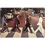 Nostalgic-Art 22261, Celebrities, The Beatles-Abbey Road, metalen bord 20x30 cm, metaal, vintage design ter decoratie, 20 x 30 x 0,2 cm