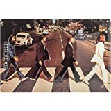 Nostalgic-Art 22261 Celeb rities, The Beatles – Abbey Road, Cartel de Chapa 20 x 30 cm Metal, 20 x 30 x 0.2 cm