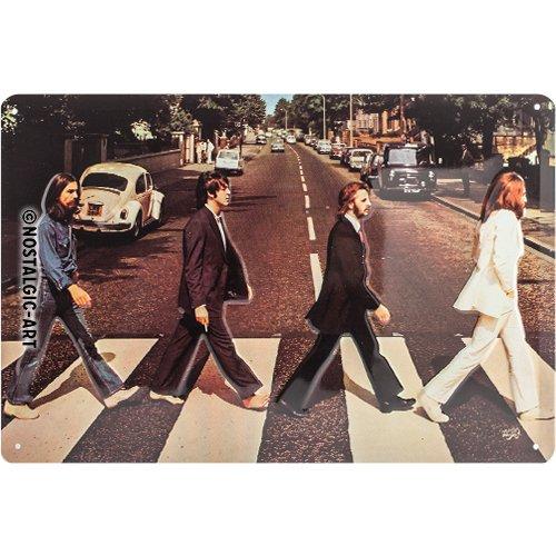 Nostalgic-Art 22261 Celebrities - Fab4 - Abbey Road, Blechschild 20x30 cm (Street Sign Star)