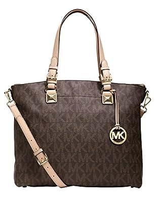 Michael Kors Multifunction Satchel Brown Signature PVC Shoulder Bag